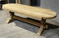 Large Rustic French Bleached Oak Farmhouse Dining Table (33 of 40)