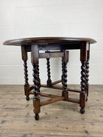 Antique Oak Gateleg Table (4 of 11)