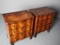 Antique Matched Pair of Walnut Chest of Drawers (10 of 20)
