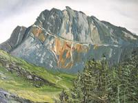 E Owen Contemporary Oil on Board of Welsh Mountainous Landscape (5 of 6)
