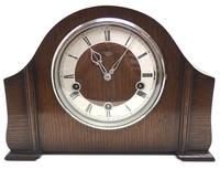 Very Good Arched Top Art Deco Mantel Clock – Musical Westminster Chiming 8-day Mantle Clock (2 of 8)