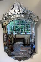 Large Engraved Venetian Mirror (4 of 4)