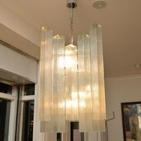 Pair of Large Vintage 1960's Glass Chandeliers by Doria Leuchten (7 of 11)