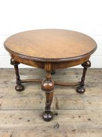Early 20th Century Antique Oak Circular Occasional Table (6 of 6)
