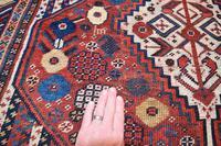 Antique Khamseh tribal rug 217x124cm (9 of 10)