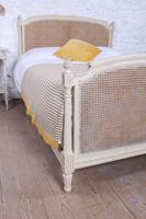 Pretty French Caned Painted King Size Bed