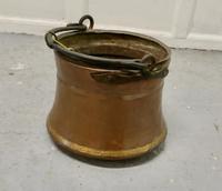19th Century Beaten Copper Cooking Pot, Cauldron (4 of 4)