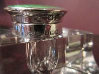 Edwardian Period Antique Silver Enamel Inkstand (3 of 7)