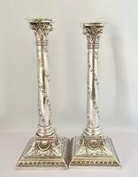 Handsome Pair of Silver Plated Candlesticks C1900 (6 of 9)
