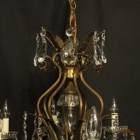 French Gilded 9 Light Birdcage Antique Chandelier (8 of 10)
