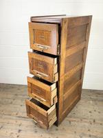 Antique Oak Four Drawer Filling Cabinet (6 of 12)