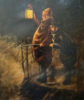 Newlyn School? Fab 19th Century Fishermen in Rough Seas Oil Portrait Painting (3 of 16)