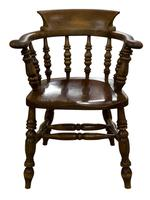 Substantial Ash, Elm & Beech Smokers Bow / Desk Chair (4 of 7)