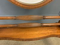 Edwardian Oval Inlaid Satinwood Mirror (6 of 13)