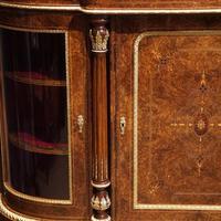 Fine Victorian Inlaid Walnut Credenza (5 of 15)