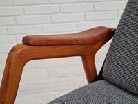 Danish Design, 60s, Completely Restored Armchair, Furniture Wool (14 of 16)