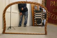 Victorian Rope Carved Pine Overmantle Mirror (5 of 9)