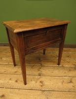 Small Rustic Antique Pine Table with Fall Front (15 of 17)