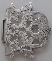 Edwardian Birmingham 1911 Hallmarked Solid Silver Nurses Belt Buckle (4 of 8)