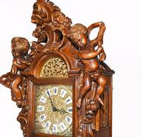 Carved Italian Grandfather Clock Walnut Cherubs (11 of 16)
