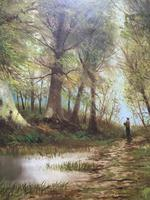 'John Williamson' Superb Woodland Landscape Oil Painting (6 of 11)