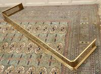 5ft Victorian Arts & Crafts Pierced Brass Fender (5 of 5)