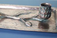 Arts & Crafts / Art Nouveau, Jugendstil Copper Pine Cone & Branch Candle holder c.1910 (21 of 28)