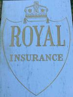 Interesting Architectural Large Heavy Marble & Gilt Inscribed Royal Insurance Building Sign (13 of 13)
