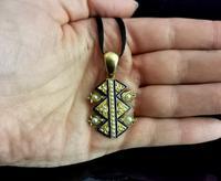 Victorian Blue Enamel & Split Pearl Pendant, 9ct Gold (10 of 12)