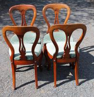 1900's Set of 4 Mahogany Hoop Back Chairs with Pop-out Seats (3 of 3)