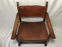 Fine Vintage Early 20th Century Original Adolf Loos Vienna Fireside Leather Armchair Secessionist Oak (16 of 46)
