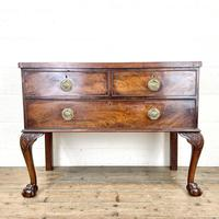 Antique Queen Anne Style Mahogany Side Table (2 of 10)
