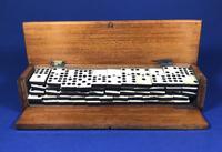Late Victorian Long Domino Set in it's original mahogany box (10 of 13)