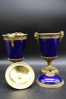 Good Pair of Late 19th Century Sèvres Type Porcelain Lidded Vases (2 of 8)