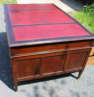 1920s Mahogany Partners Desk with Red Leather on Top (6 of 6)