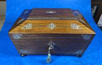 William IV Rosewood Jewellery Box with Inlays