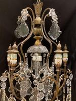 One Light Italian Antique Cage Chandelier (4 of 13)