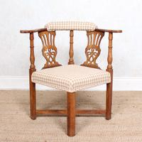 Georgian Corner Elbow Chair Beech