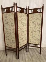 Edwardian Panelled Dressing Screen (4 of 5)