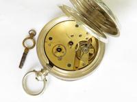 Antique Silver Buren Pocket Watch, 1907 (5 of 5)