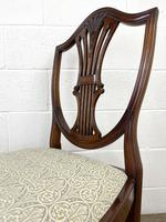 Set of Four 20th Century Mahogany Dining Chairs (9 of 10)