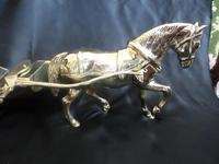 Solid Brass Model of a Hansom Can & Horse (6 of 6)