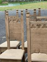 Set 8 Oak Farmhouse Dining Chairs (7 of 14)