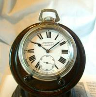 Antique Pocket Watch 1920s Winegartens 7 Jewel Railway Regulator Silver Nickel Case FWO (2 of 12)