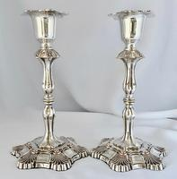 Very Good Quality Silver Plated Sheffield Candlesticks c.1850