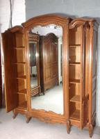 Large Oak French Triple Armoire (11 of 12)