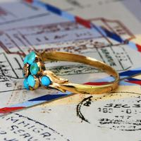 The Antique Eight Turquoise & Diamond Ring (4 of 5)