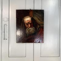 Antique oil painting portrait of a Jewish Rabbi (2 of 10)