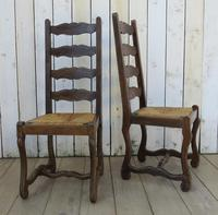 Six Oak & Rush Seated Os De Mouton Dining Chairs (2 of 8)