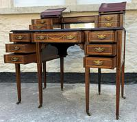 Maple & Co - Stunning Edwardian Marquetry Rosewood Library Writing Table Desk (3 of 15)